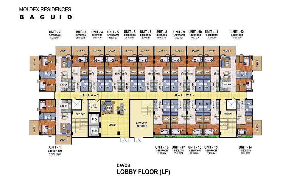 Moldex Residences Baguio - Lobby Floor