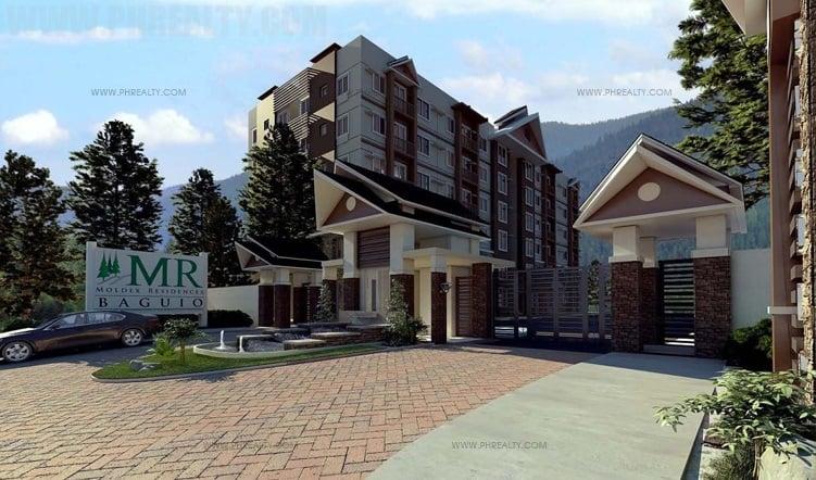 Moldex Residences Baguio - Entrance Gate Perspective
