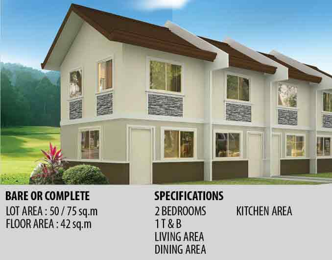 Tierra Vista Ayana - Jasmine Townhouse Specifications