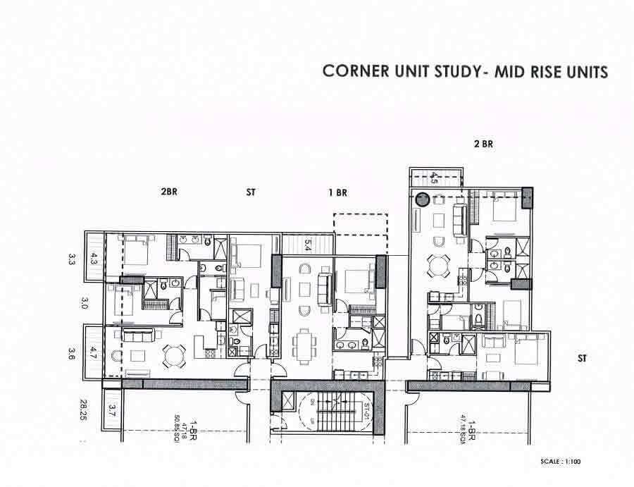 The Connor At Greenhills - High Zone Corner Layout