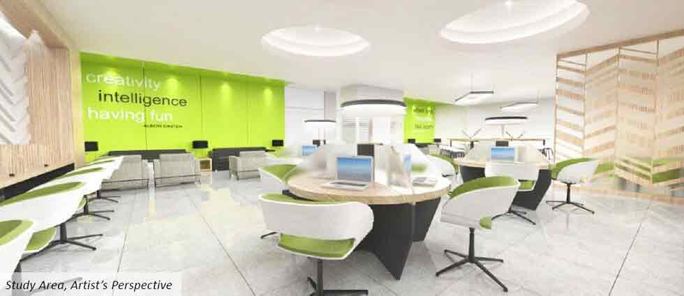 The Symphony Towers  - Study Area with Wifi