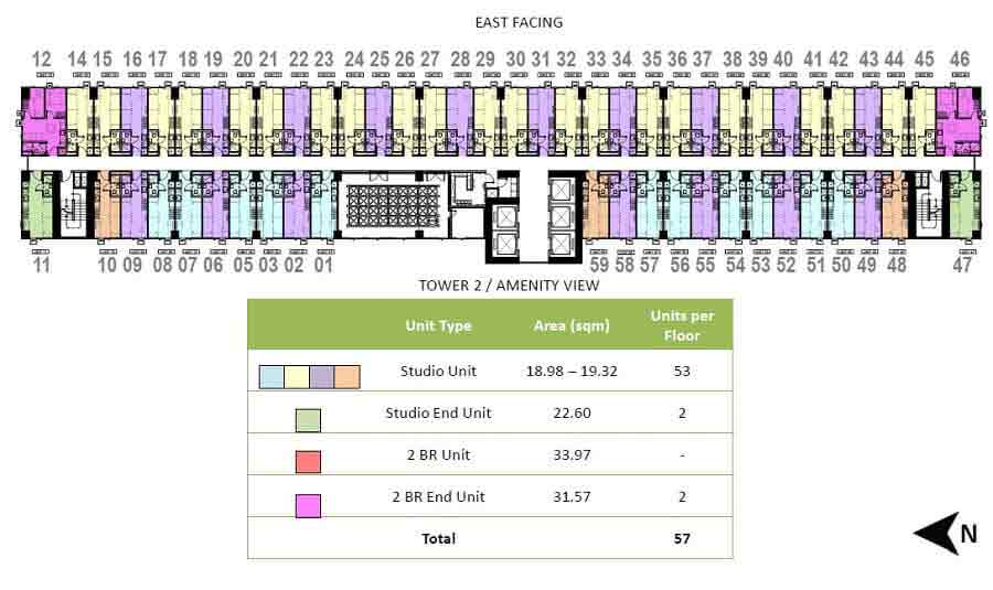 The Symphony Towers  - Tower 1 - 22nd Floor Plan