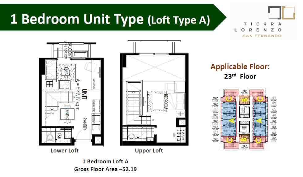 Tierra Lorenzo San Fernando - 1 Bedroom Unit - Type A