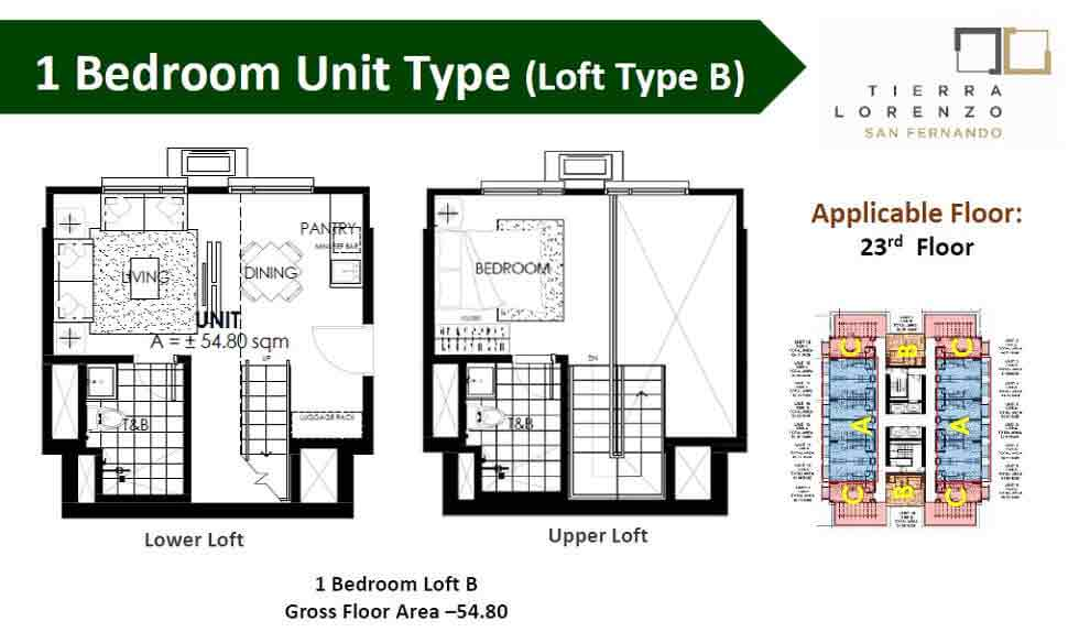 Tierra Lorenzo San Fernando - 1 Bedroom Unit - Type B