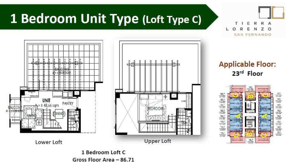 Tierra Lorenzo San Fernando - 1 Bedroom Unit - Type C