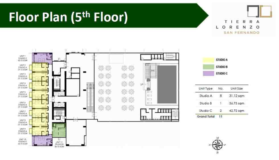 Tierra Lorenzo San Fernando - Floor Plan (5th Floor)