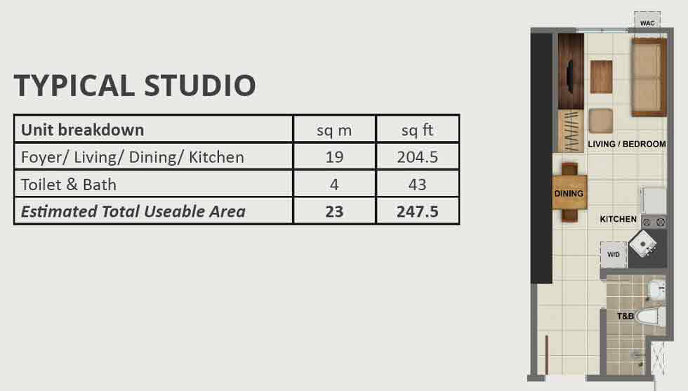 Avida Towers Vireo - Studio Unit