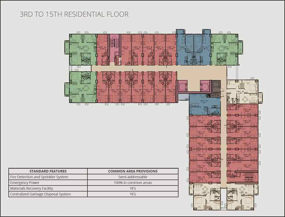 Avida Towers Vireo - Typical Floor Plan