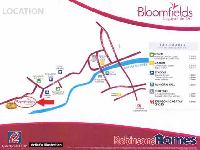 Bloomfields Cagayan De Oro - Location Map