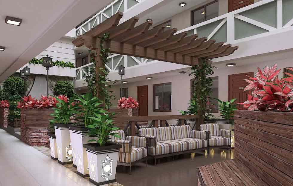 Pine Suites - Ground Floor Atrium