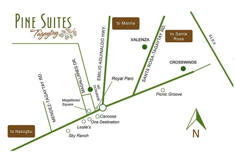 Pine Suites - Location & vicinity