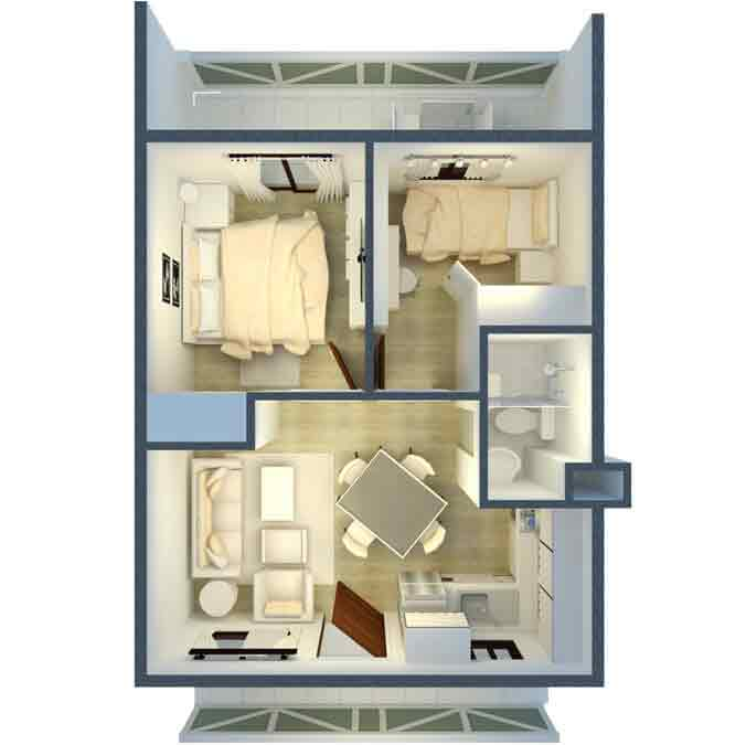 Pine Suites - Two Bedroom Suite