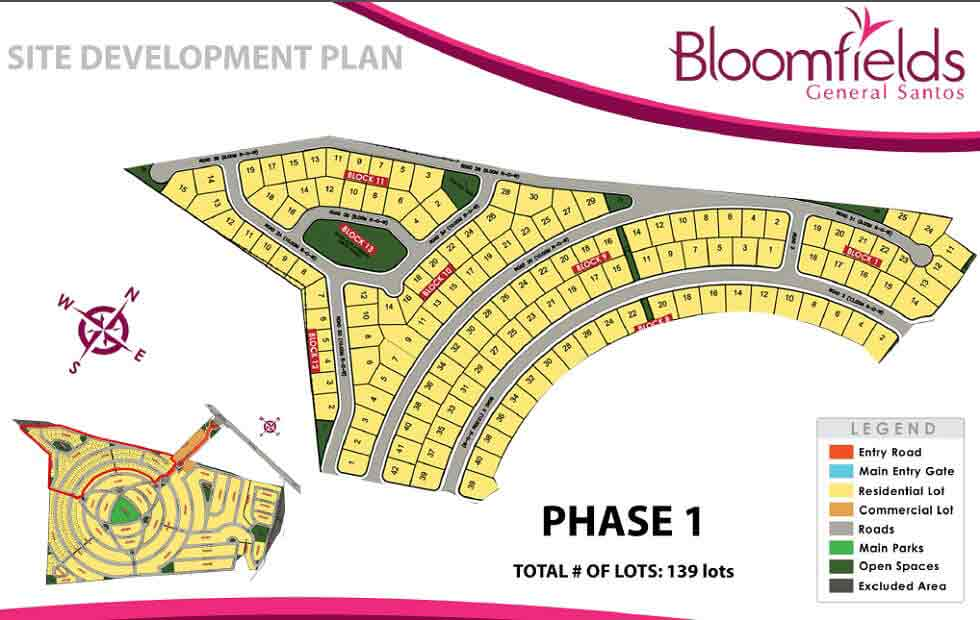 Bloomfields General Santos - Site Development Plan - Phase 1