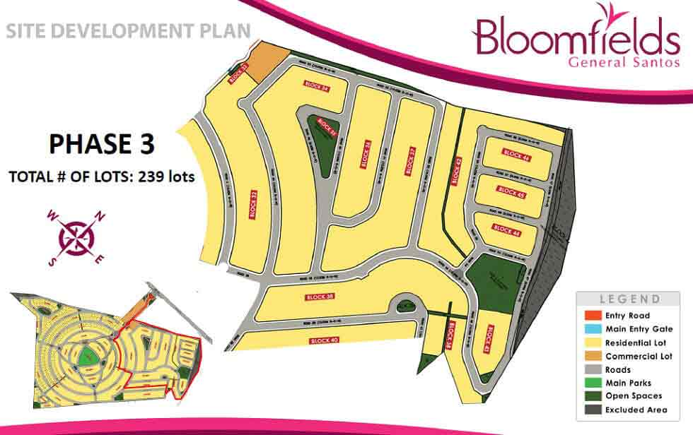 Bloomfields General Santos - Site Development Plan - Phase 3
