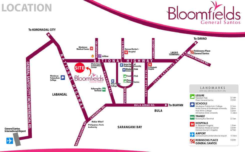 Bloomfields General Santos - Location & Vicinity