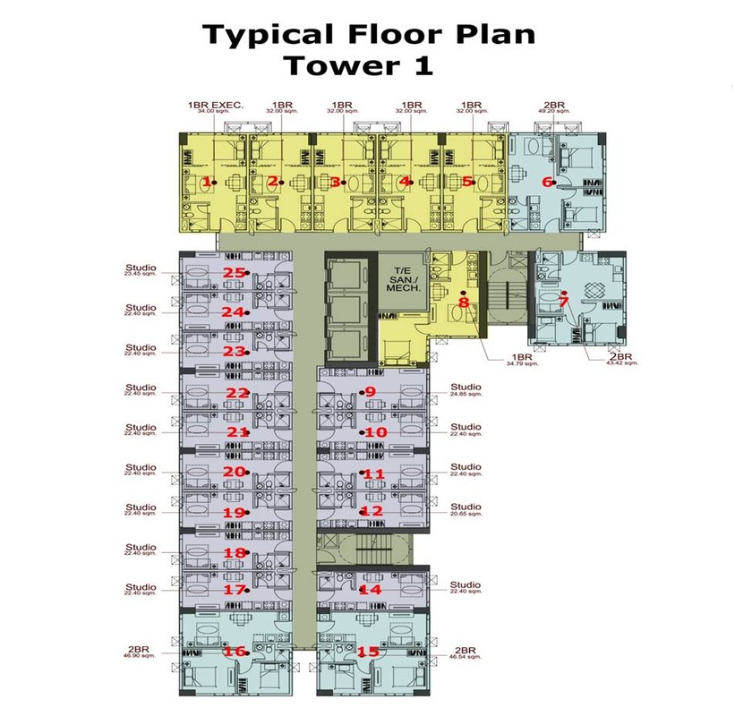 Crown Asia Residences - Typical Floor Plan
