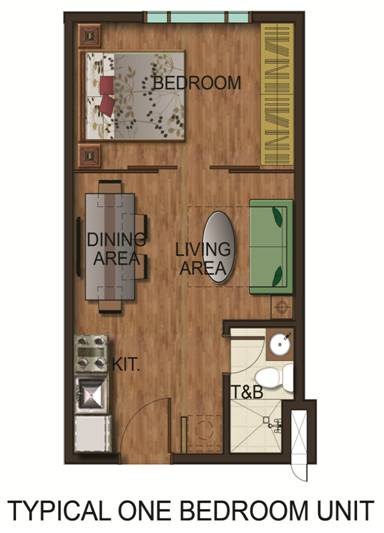 Crown Asia Residences - Typical One Bedroom Unit