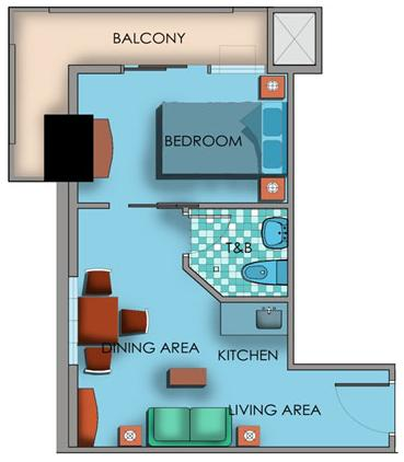 Crown Asia Residences - 1 Bedroom