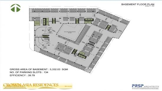 Crown Asia Residences - Basement Floor Plan