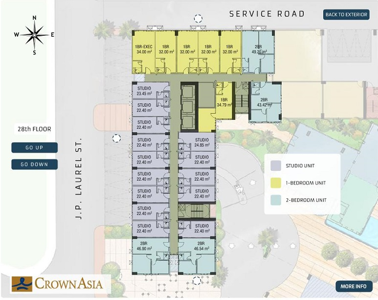 Crown Asia Residences - Floor Plan