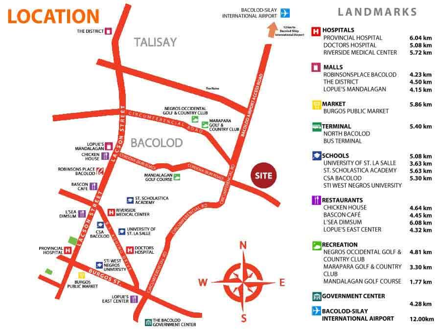 Brighton Bacolod - Location & Vicinity
