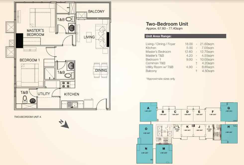 Galleria Residences - Two Bedroom Unit