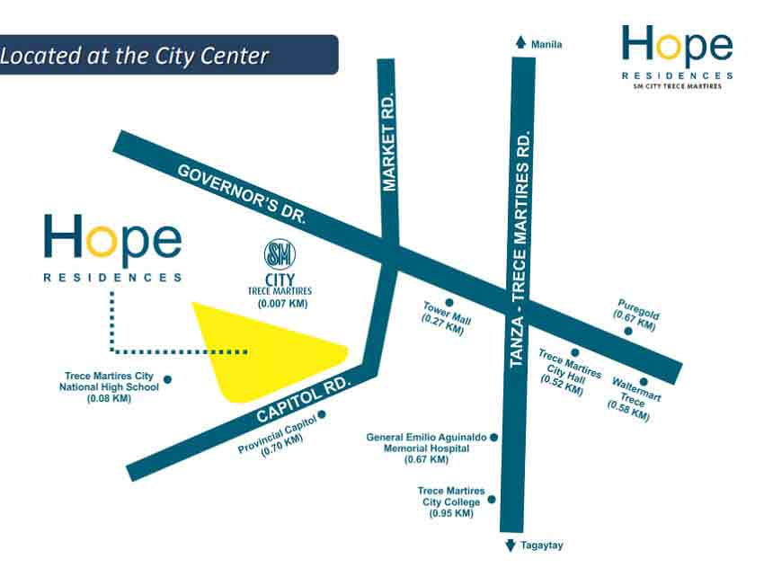 Hope Residences - Location & Vicinity