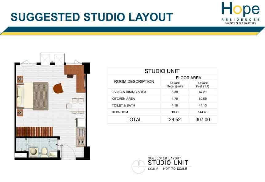 Hope Residences - Studio Unit