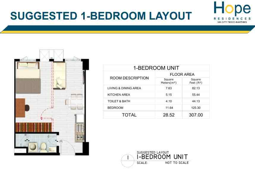 Hope Residences - 1 Bedroom Unit