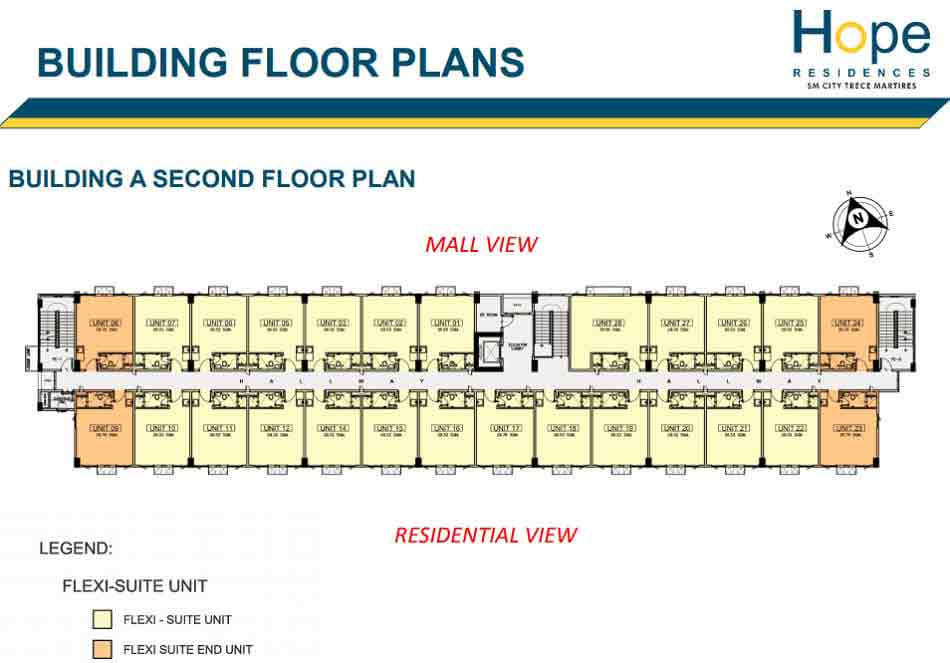 Hope residences preselling condominium for sale in trece for Real estate floor plan pricing