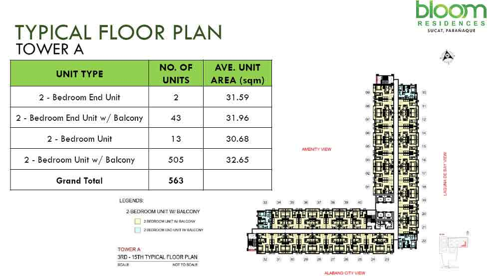 Bloom Residences - Tower A - Typical Floor Plan