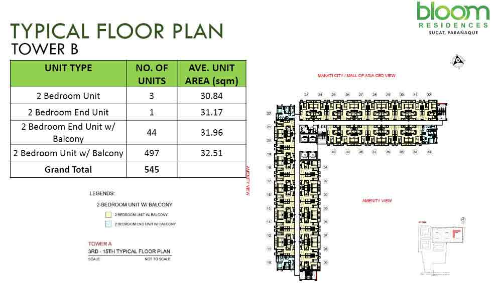 Bloom Residences - Tower B - Typical Floor Plan