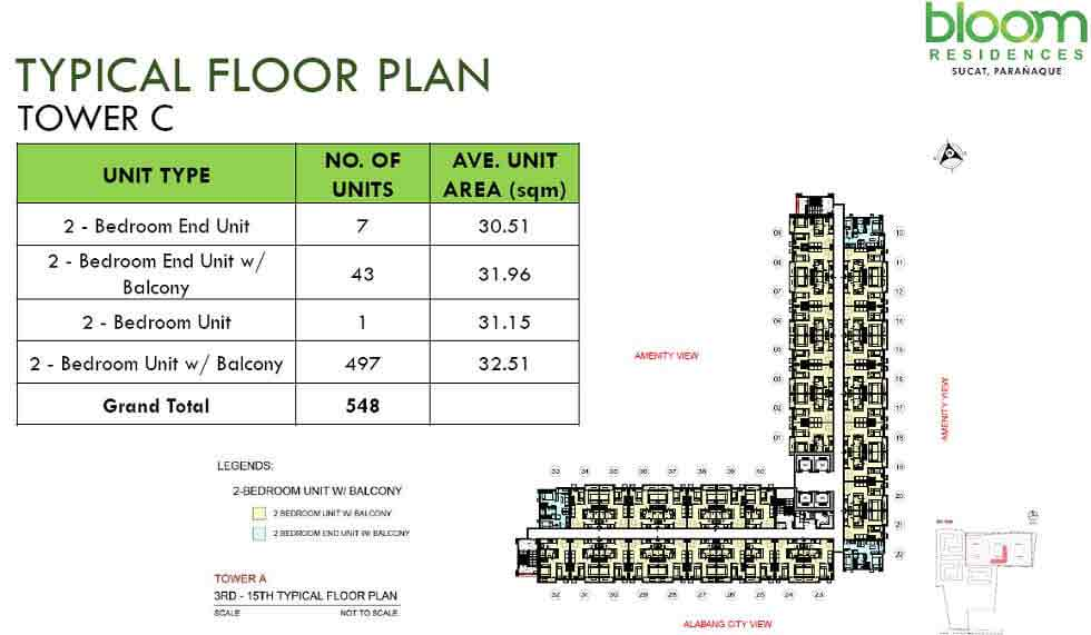 Bloom Residences - Tower C - Typical Floor Plan