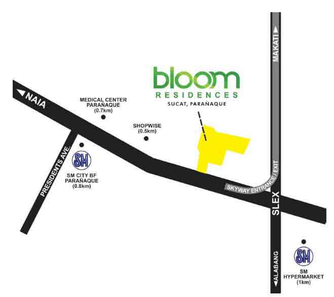 Bloom Residences - Location & Vicinity