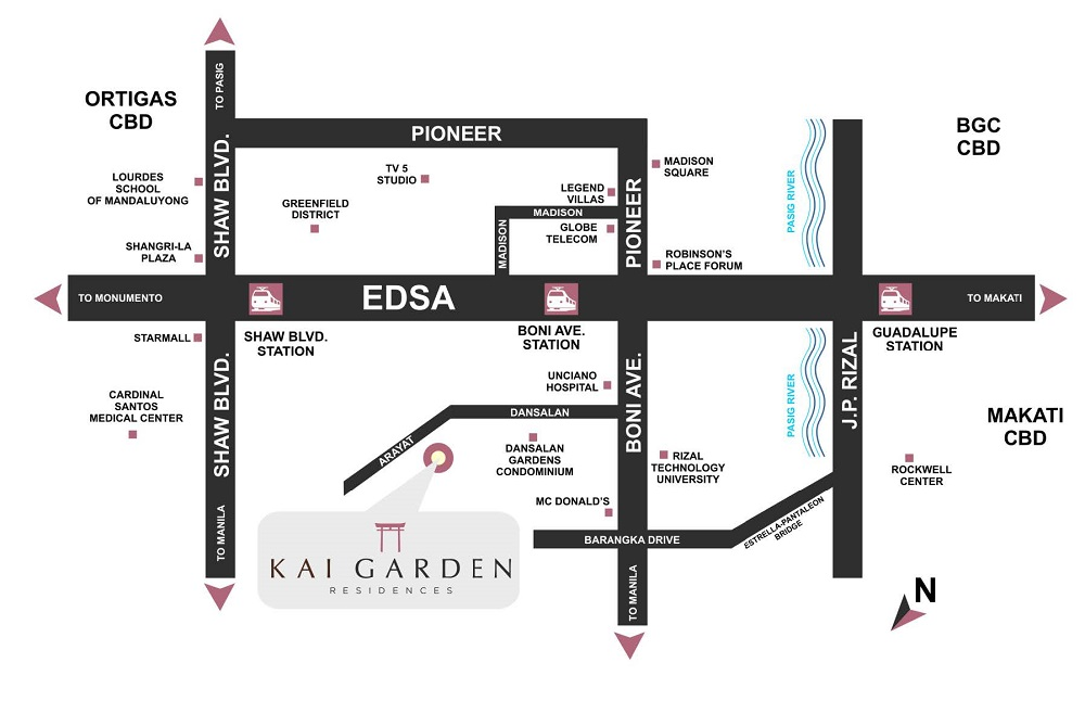 Kai Garden Residences - Location Map
