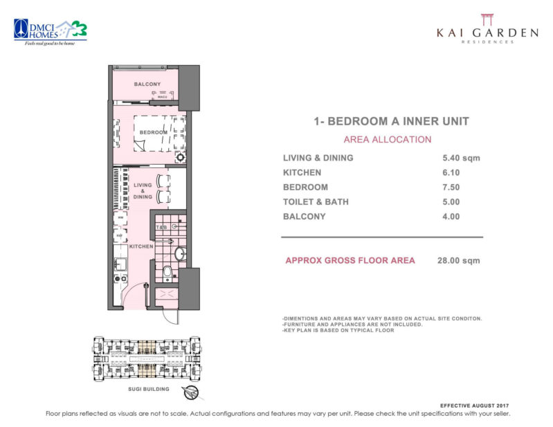 Kai Garden Residences - 1 - Bedroom A ( Inner Unit )