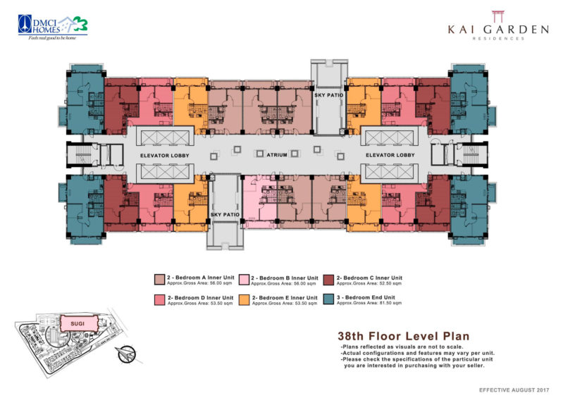 Kai Garden Residences - 38th Floor Plan