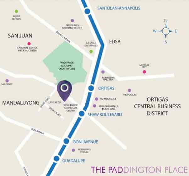 The Paddington Place - Location Map