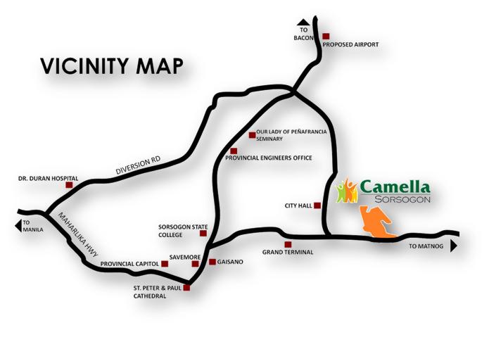 Camella Sorsogon - Location & Vicinity