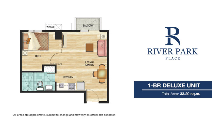 River Park Place - 1 BR Deluxe Unit