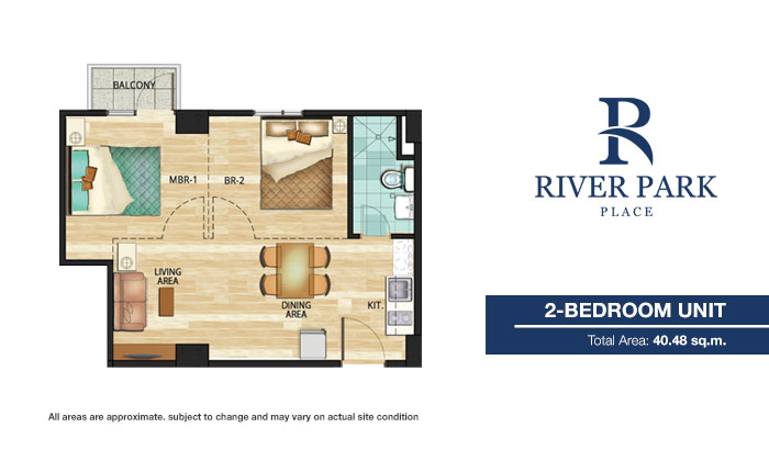 Sentrale Residences - 2 Bedroom Unit