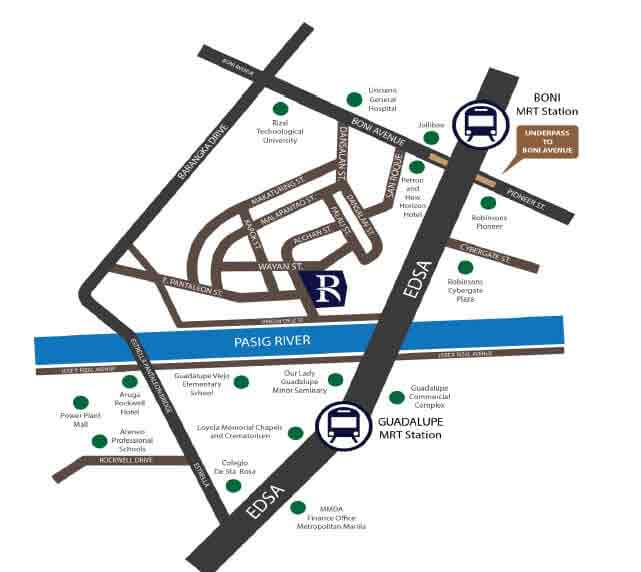 Sentrale Residences - Location Map