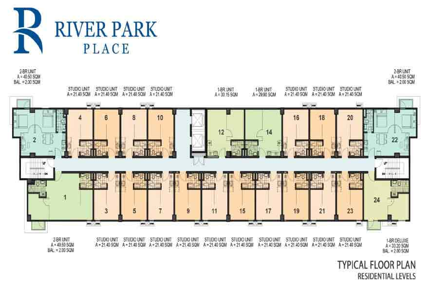 River Park Place - Typical Floor Plan