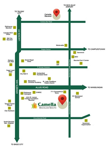 Camella Bacolod South - Location & Vicinity