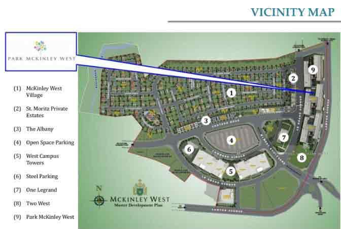 Park McKinley West - Location Map