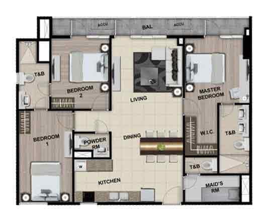 Park McKinley West - 3 Bedroom Unit