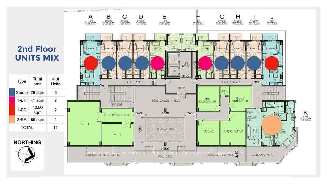 Chelsea Parkplace - 2nd Floor Units Mix