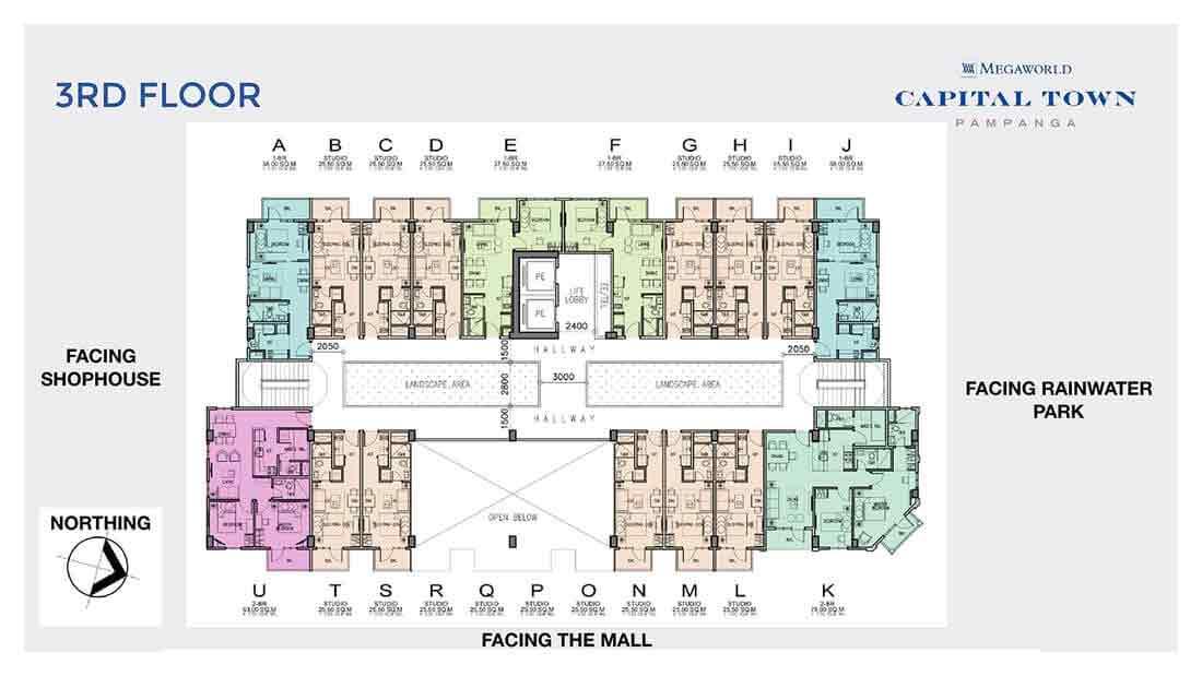 Chelsea Parkplace - 3rd Floor Plan