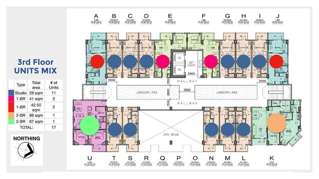 Chelsea Parkplace - 3rd Floor Units Mix