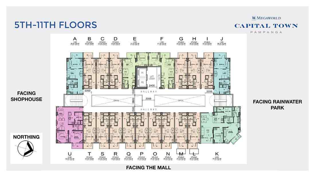 Chelsea Parkplace - 5th - 11th Floor Plan